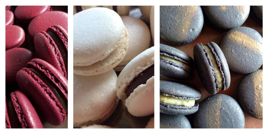 Mojito, Salted Caramel with Coffee, Dark Chocolate, Macarons
