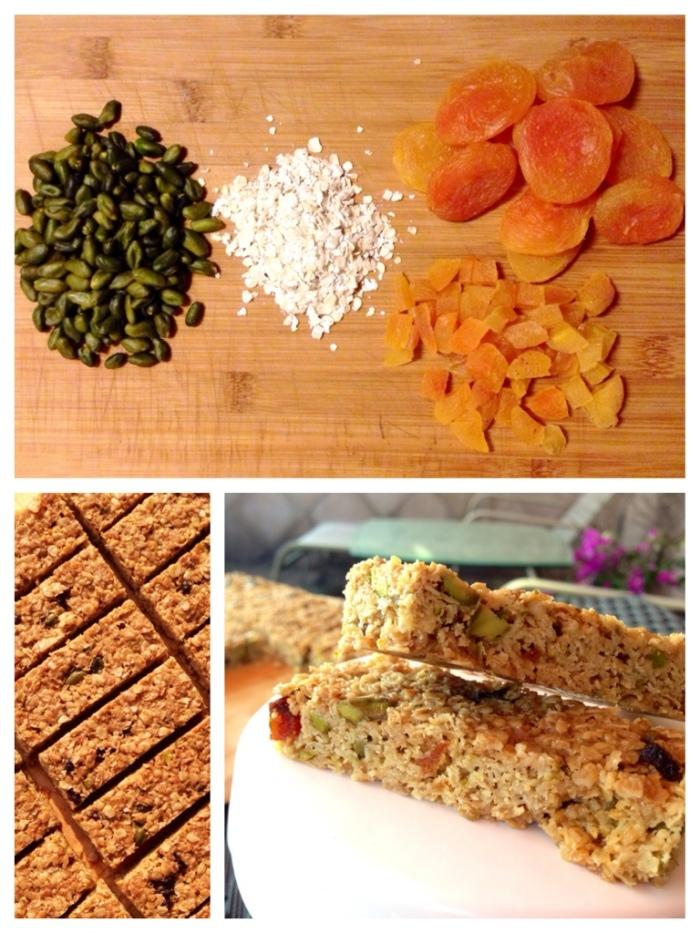 A Luxury Morning Treat (Apricot, Pistachio, Maple Syrup – gluten free dairy freeflapjacks)